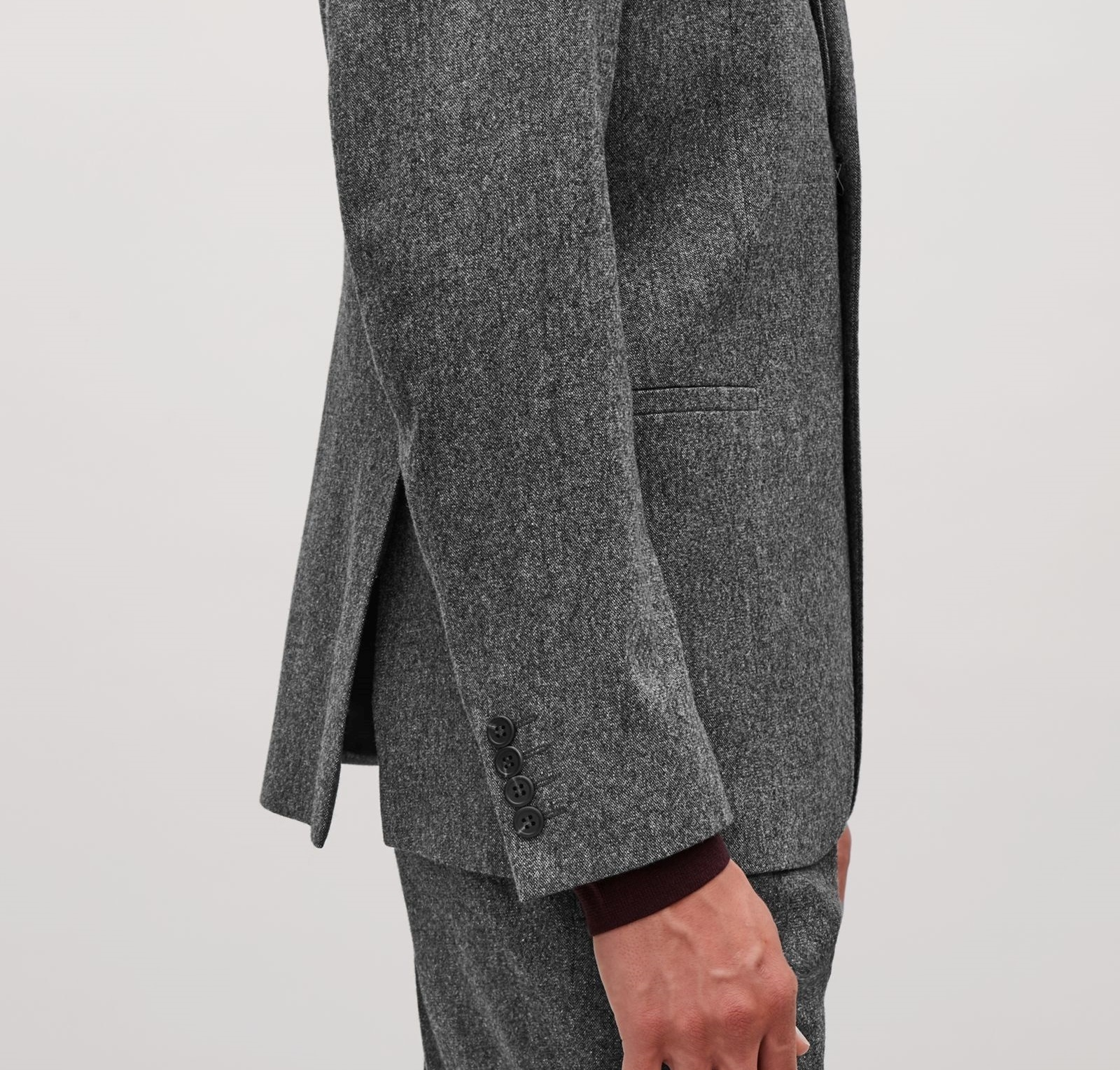 """COS MEN""WOOL MELANGE BLAZER DARKGRAY"