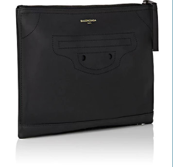 17AW新作◆BALENCIAGA◆ブラック 黒 Blackout Clip Medium Pouch