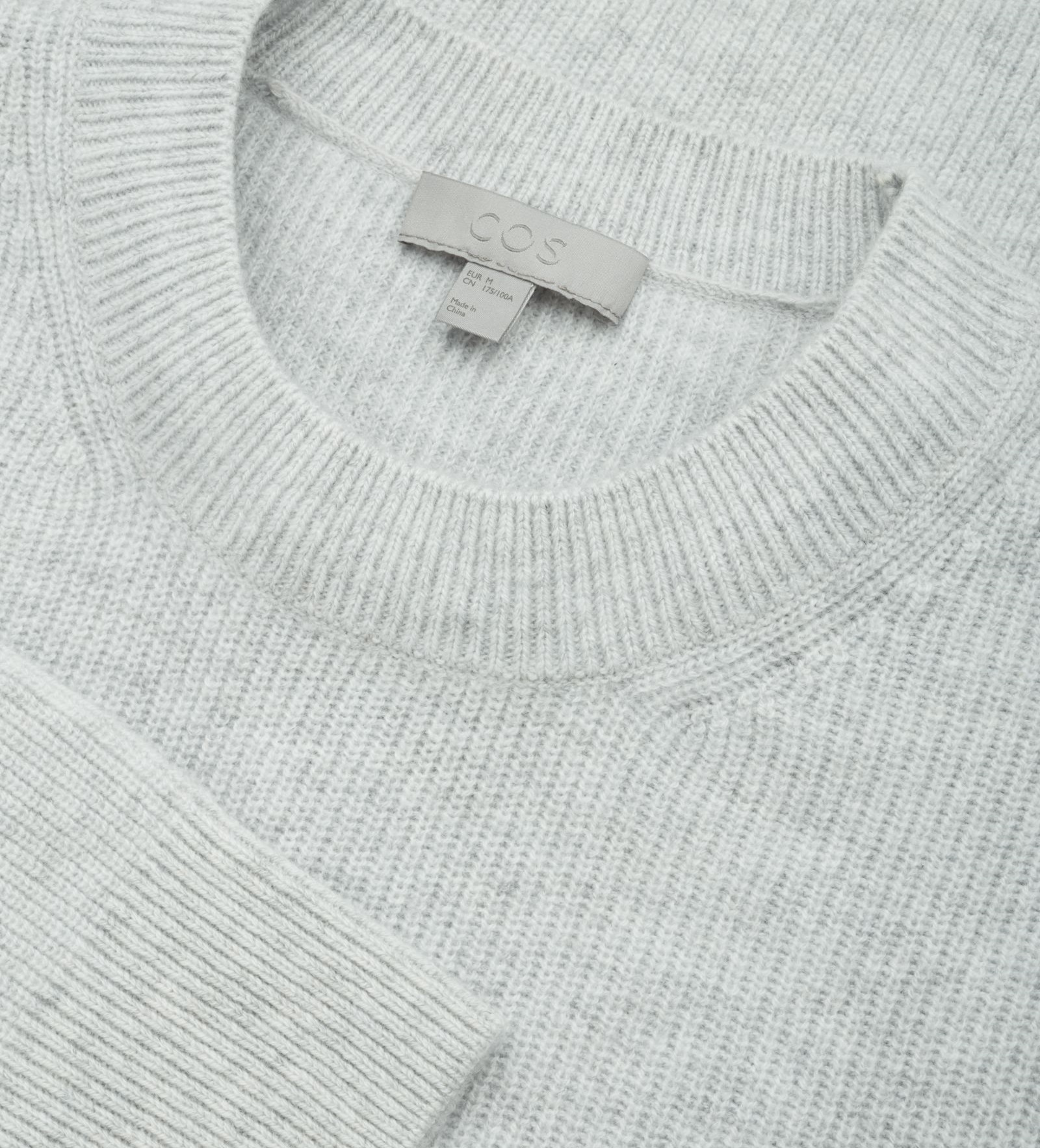 """COS MEN""CARDIGAN-STITCH CASHMERE JUMPER LG"