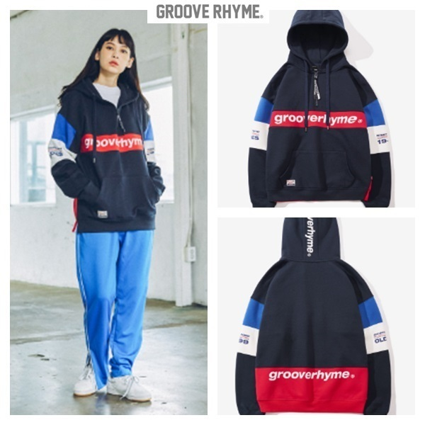 GROOVE RHYME☆2017 COLOR BLOCK 1999 HOODIE OVER FIT 男女兼用