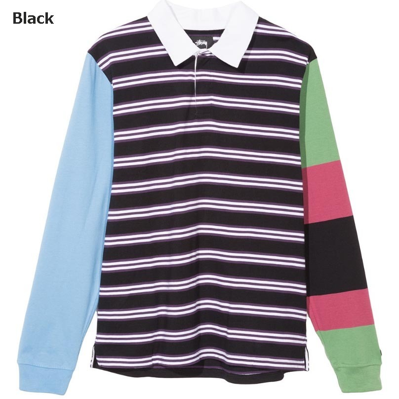 <17AW新作>Stussy☆MIX UP L/SL RUGBY2色