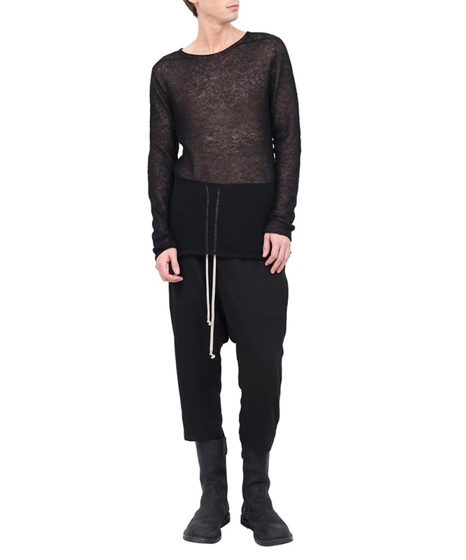 FW17 RICK OWENS SEE-THROUGH KNIT RU17F8642-KAI
