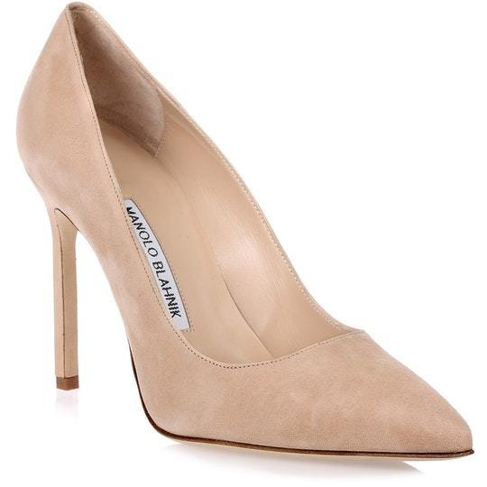BB105 nude suede pump スエードレザーパンプス