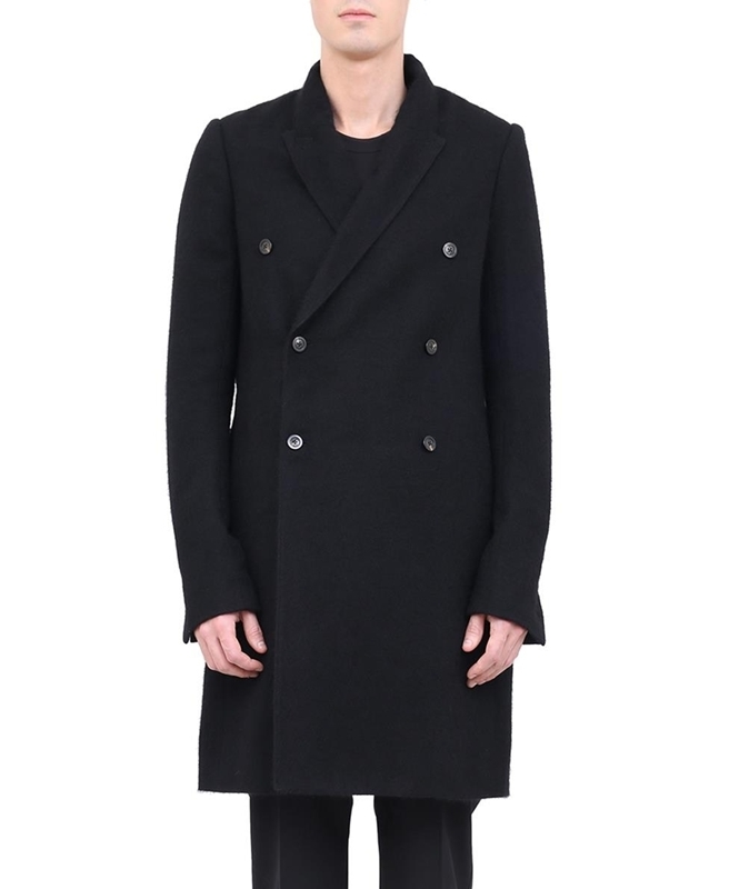FW17 RICK OWENS DOUBLE BREASTED COAT RU17F8955-BT