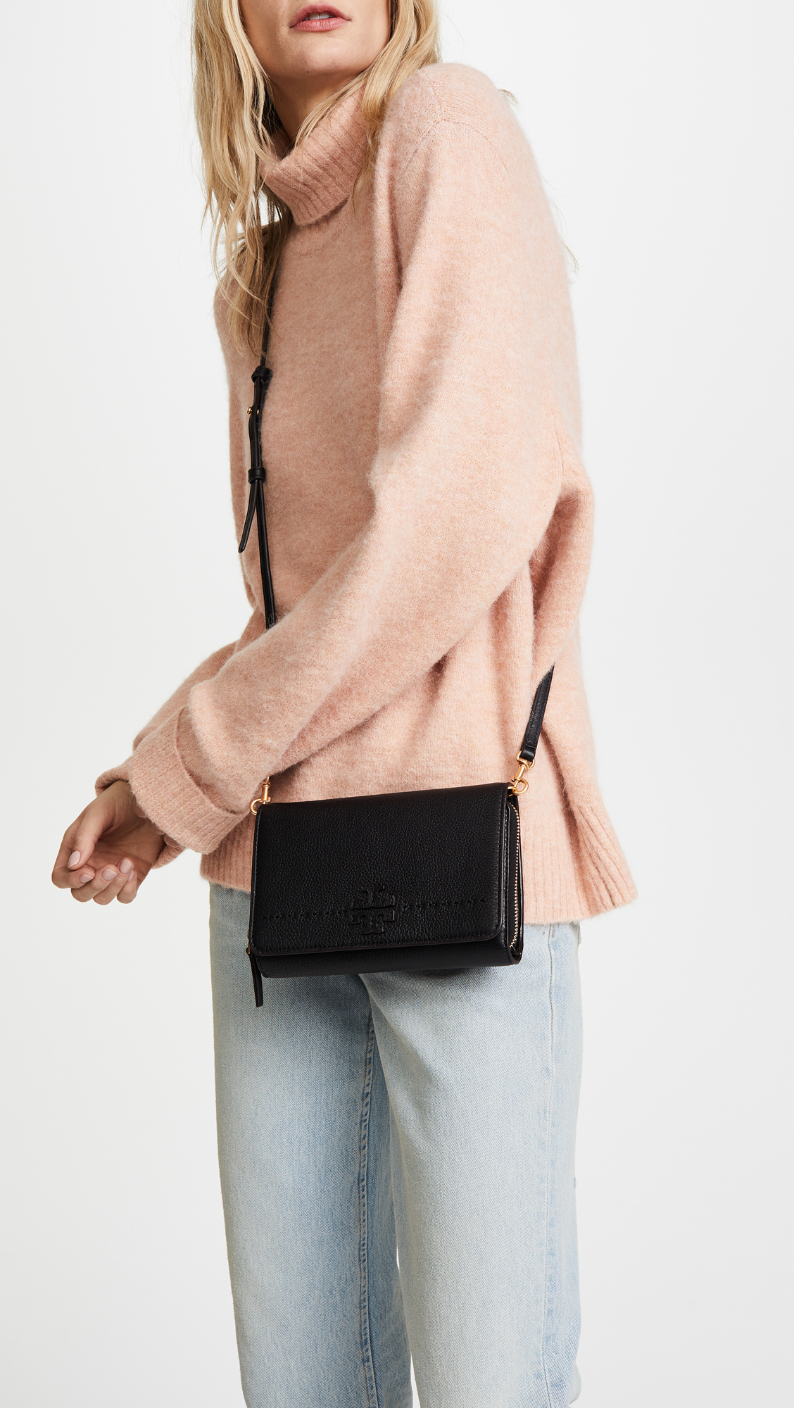 トリーバーチ Mcgraw Flat Wallet Cross Body Bag 財布