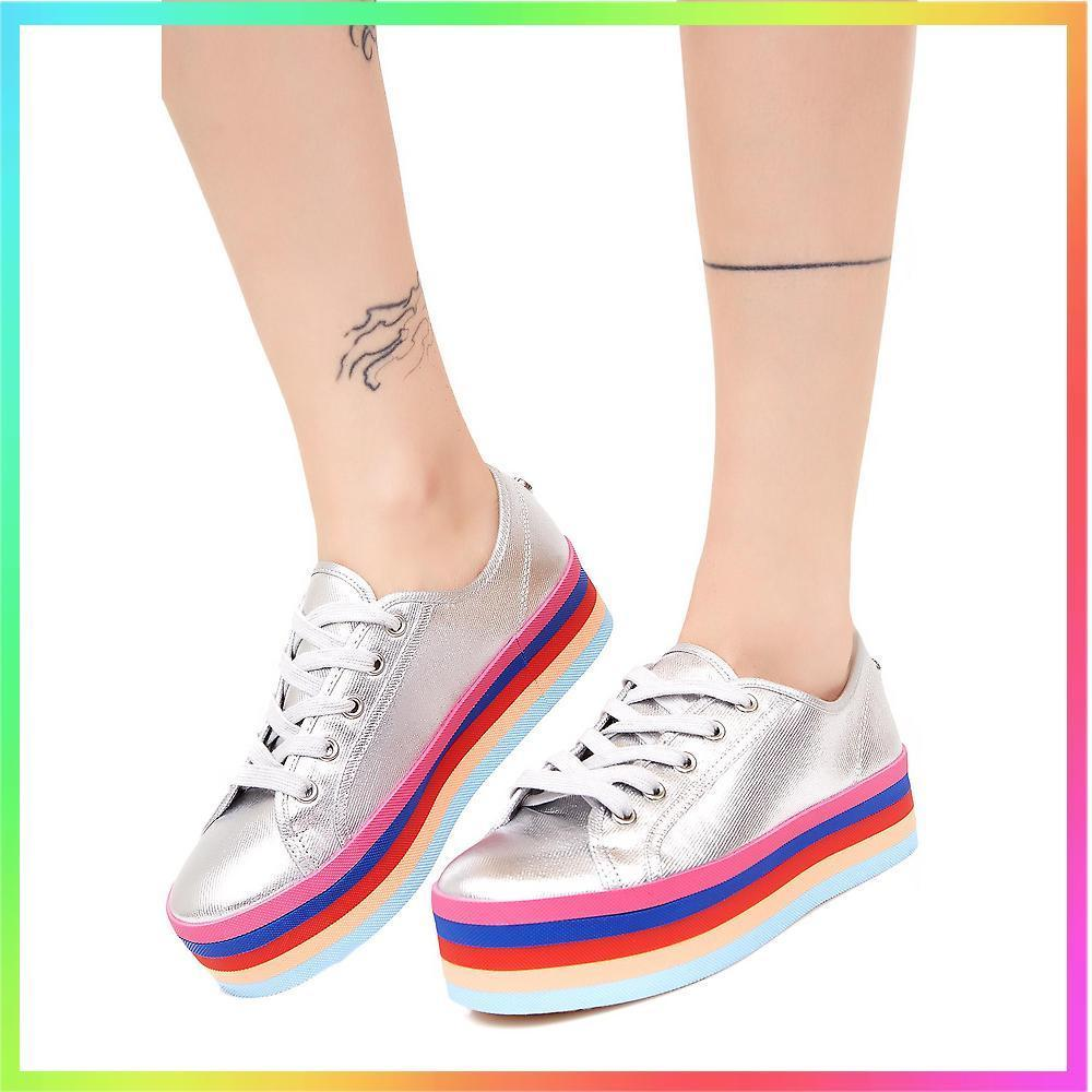 Steve Madden★RAINBOW SOLE LACE-UP