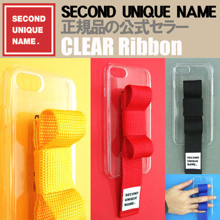 SECOND UNIQUE NAME iPhone・スマホケース 【NEW】「SECOND UNIQUE NAME」 CLEAR Ribbon EDITION 正規品