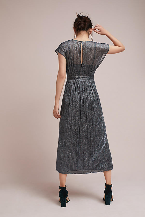 18SS☆最安値保証*関送込【Anthro】Pleated Metallic Wrap Dress