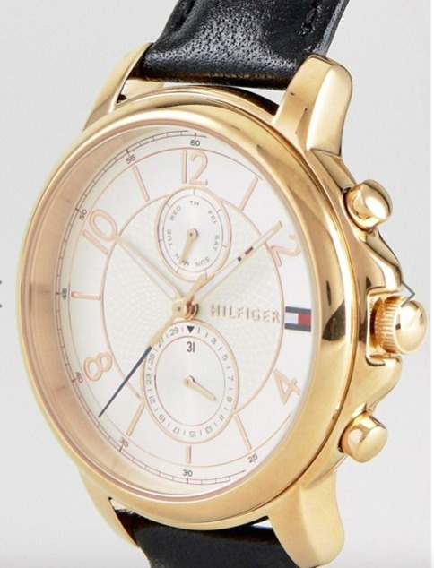 Tommy Hilfiger 1781817 Claudia Chronograph Leather Watch