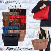 Mulberry☆Zipped Bayswater Grain-Leather-
