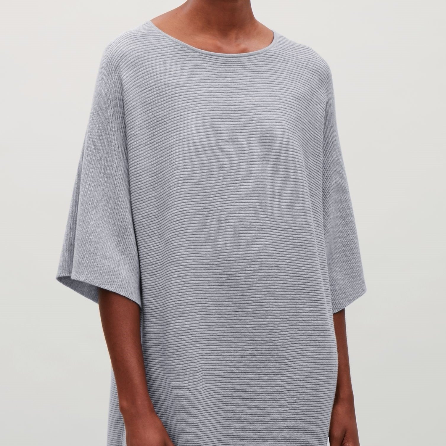 """COS""RECTANGULAR KNITTED DRESS GRAY"