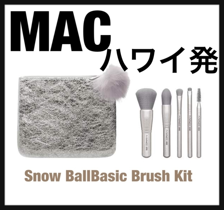 MAC新作ブラシ5本セット★Snow Ball Basic Brush Kit★