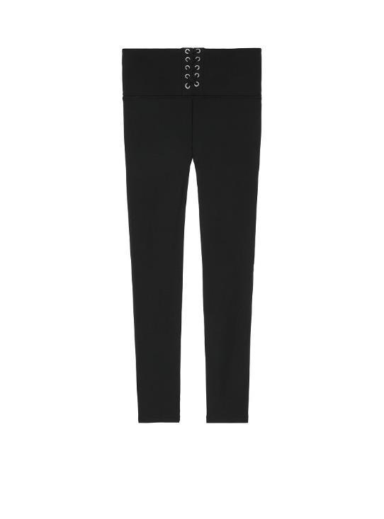 ★pure black★NEW! Ultimate Fleece Lined Lace-Up?Legging