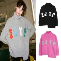 ◆SJYP(エスジェイワイピ)◆ SJYP logo turtleneck knit top 3色