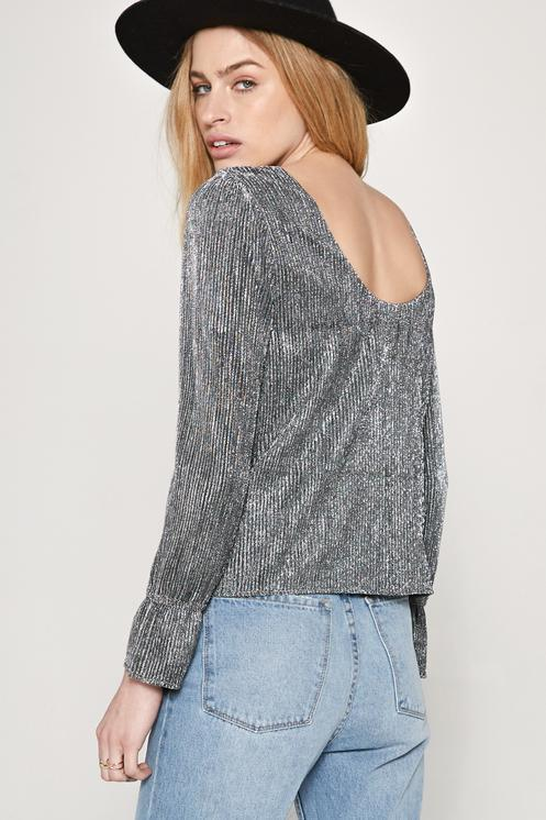 AMUSE SOCIETY Glimmer Knit Top ブラウス