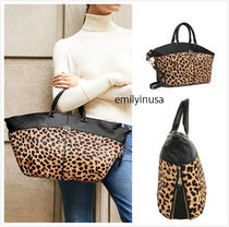 SALE TORY BURCH★Ivy Leopard Slouchy Satchel 大容量*A4収納可