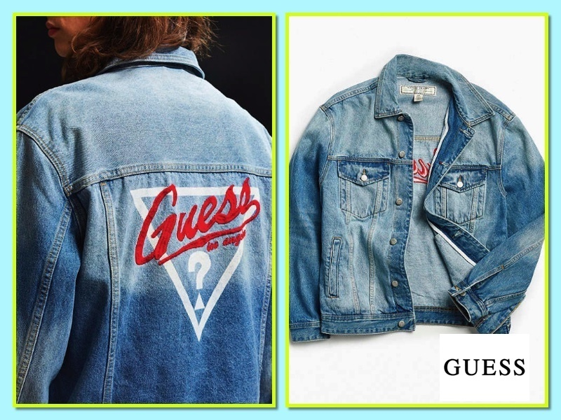 【Guess】1981大判デニムトラックジャケット*送料・関税込み