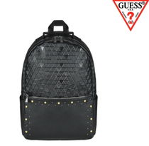 Guess★UNISEX エンボスゴールドスタッドバックパック AH3A4A05