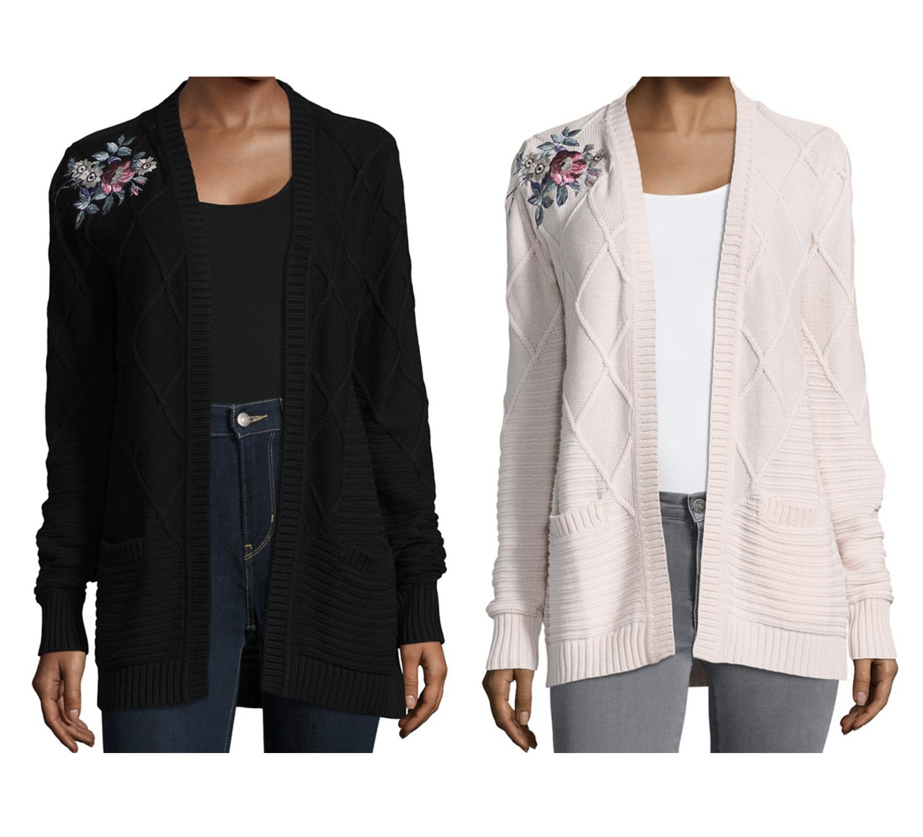 イヴァンカ Ivanka Trump Embroidered Floral Cardigan
