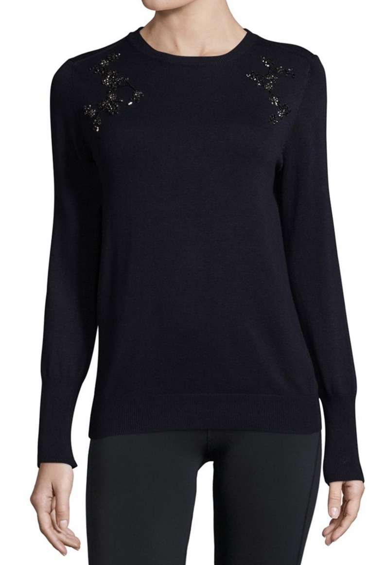 イヴァンカ Ivanka Trump Crewneck Beaded Sweater