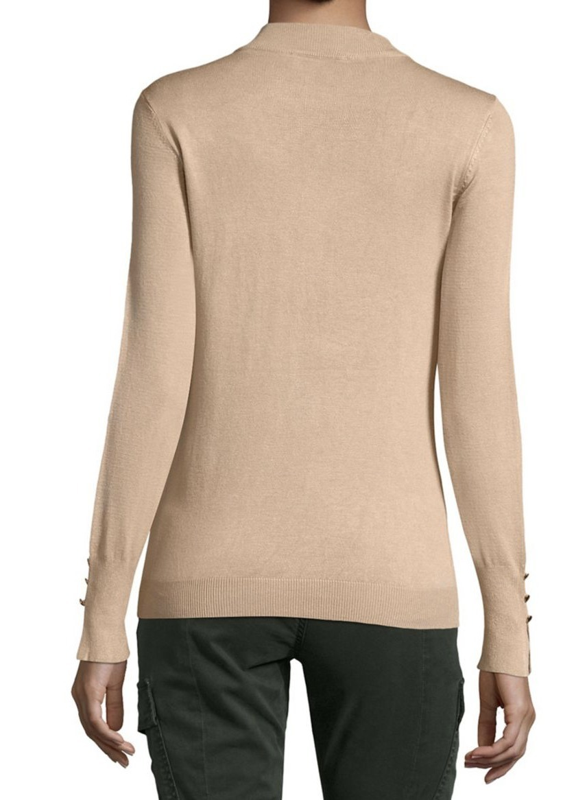 イヴァンカ Ivanka Trump Embellished Mockneck Sweater