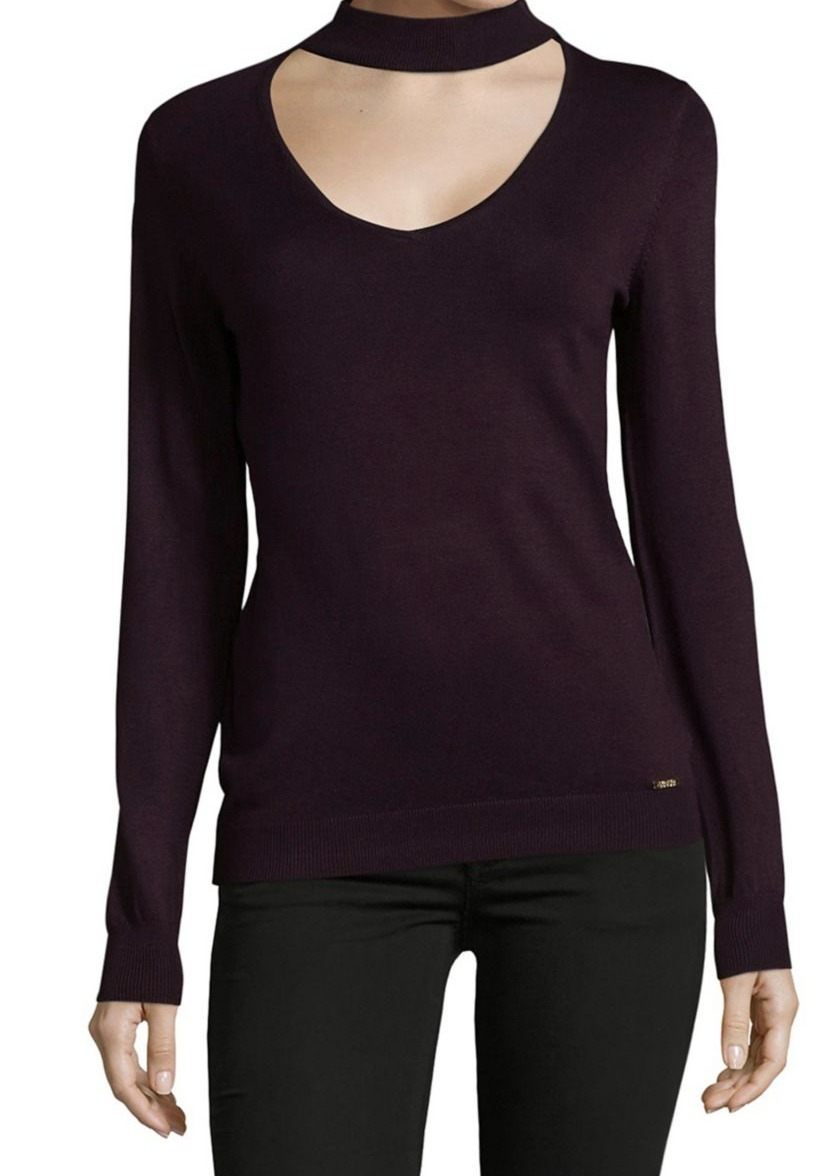 イヴァンカ Ivanka Trump Scoopneck Long-Sleeve Sweater