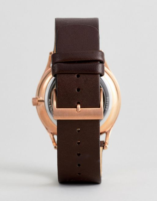 ☆関税・送料込☆Skagen SKW6395 Holst Leather Watch In 腕時計