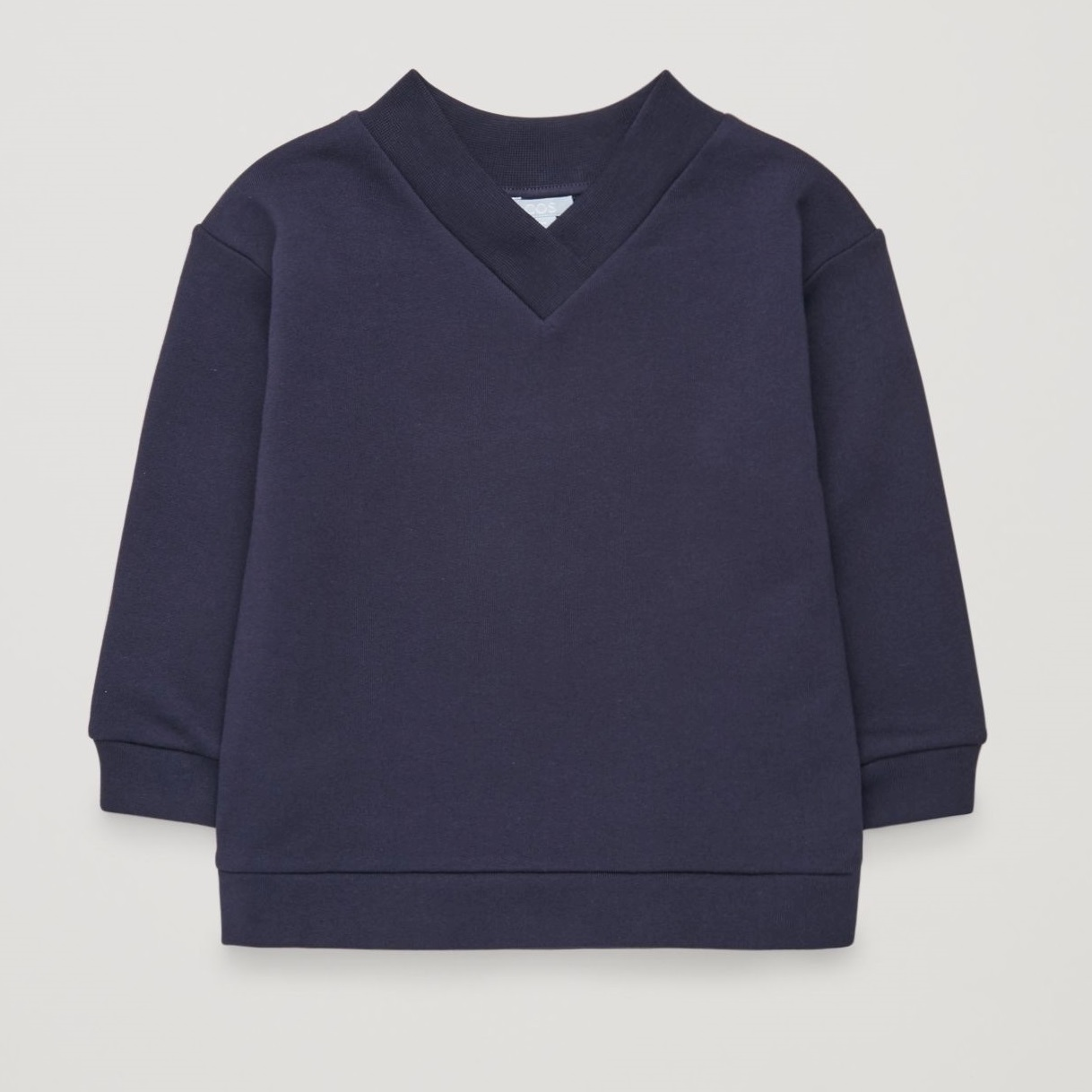 """COS KIDS""V-NECK SWEATSHIRT NAVY"