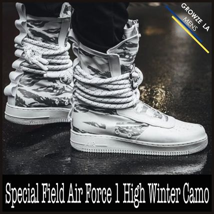 Nike スニーカー ★【NIKE】追跡発 Special Field Air Force 1 High Winter Camo