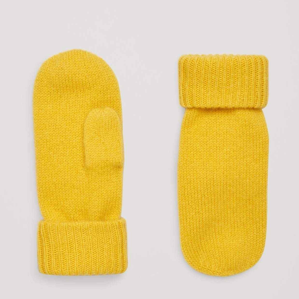 """""""COS KIDS""""CASHMERE MITTENS YELLOW"""