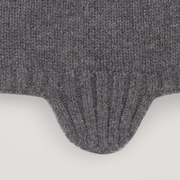 """COS KIDS""CASHMERE BEANIE HAT GRAY"