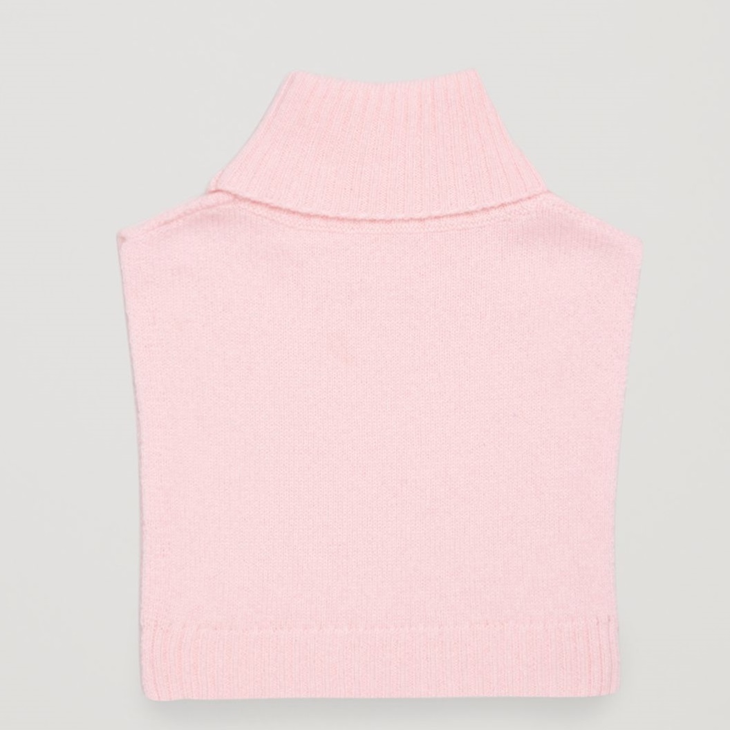 """""""COS KIDS""""CASHMERE POLO-NECK SCARF PINK"""