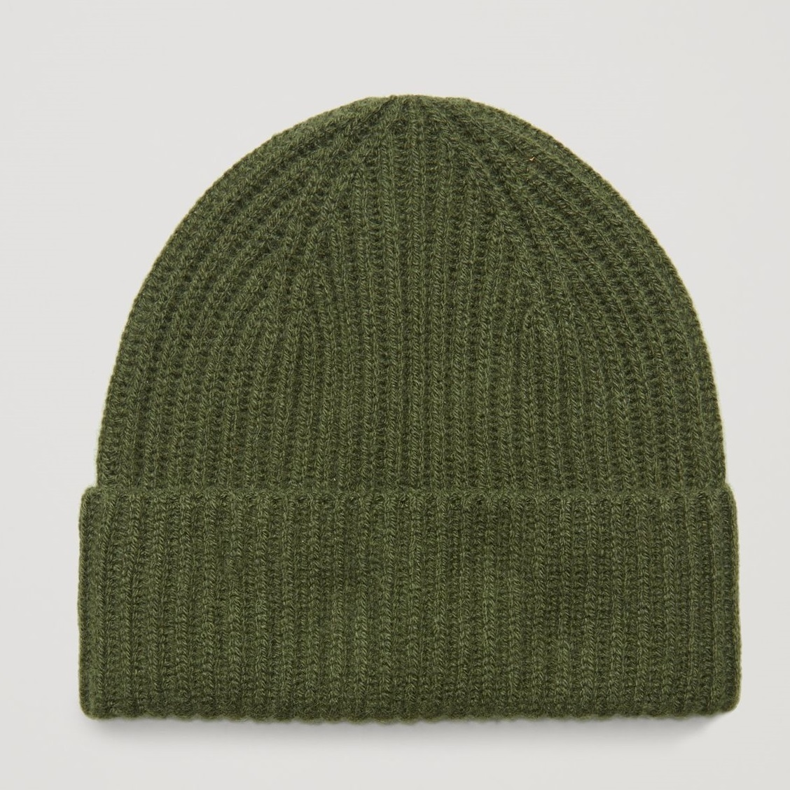 """""""COS KIDS""""RIBBED CASHMERE HAT KHAKIGREEN"""