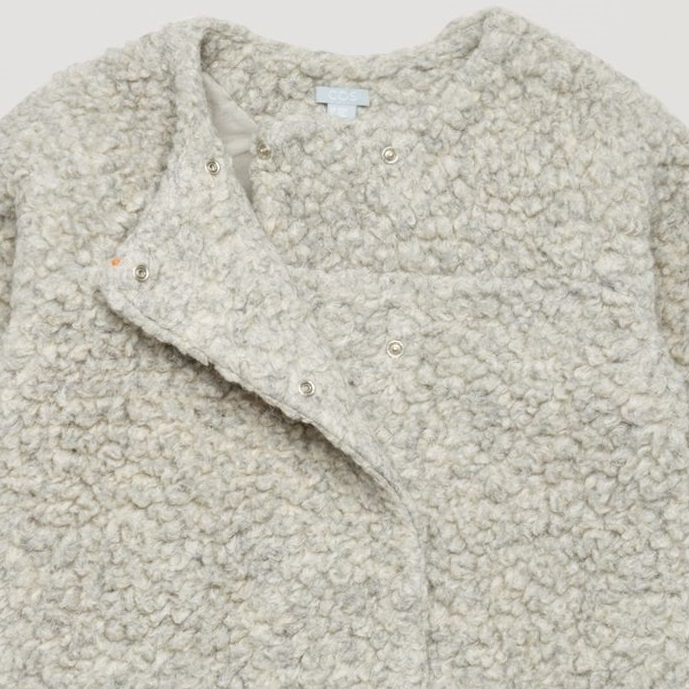 """""""COS KIDS""""DOUBLE-BREASTED WOOL COAT LIGHTGRAY"""