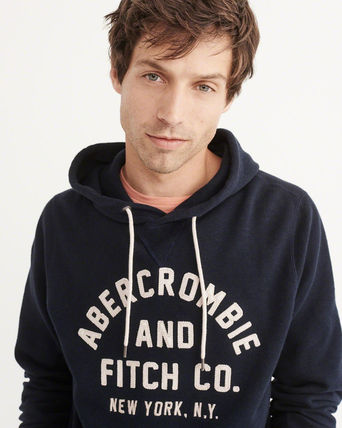 Abercrombie & Fitch パーカー・フーディ アバクロ メンズ  パーカー   LOGO PULLOVER HOODIE(4)