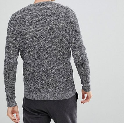 【ASOS】Selected Homme★霜降りニット/Grey