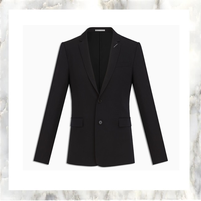 2017-2018AW DIOR HOMME ブラック ウール ジャッケット