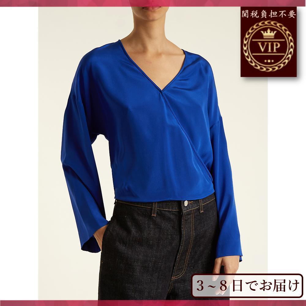 DVF▼Crossover-front シルク crepe de Chine ブラウス