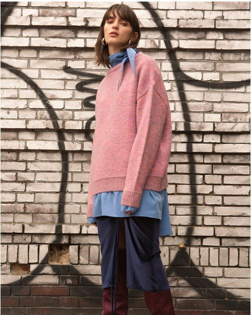 ANDERSSON BELLのTARTAN MOHAIR BOAT NECK SWEATER 全3色