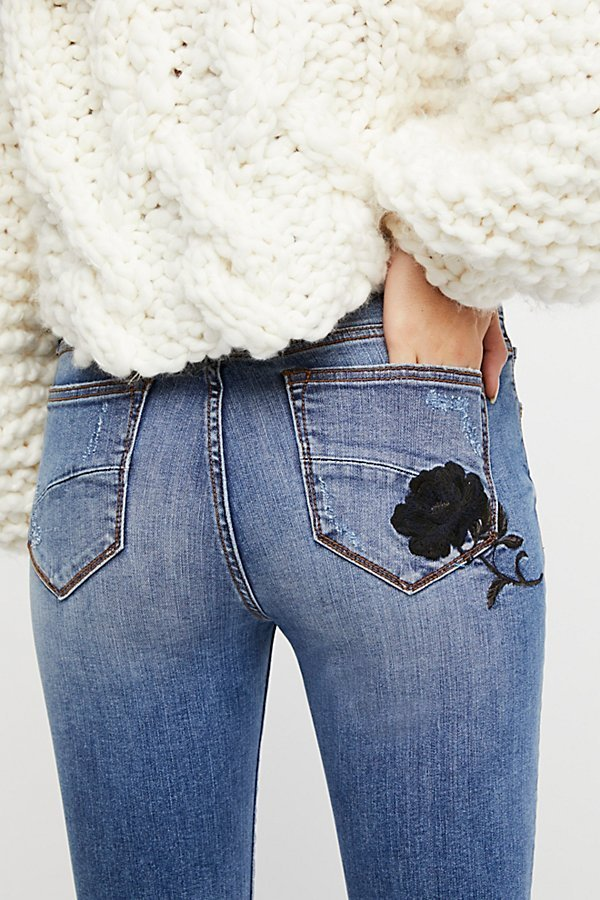 Free People フリーピープル Jackie Embroidered スキニー