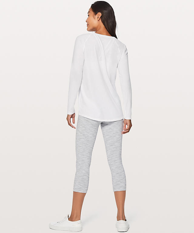 ★大人気★lululemon★Emerald Long Sleeve★White