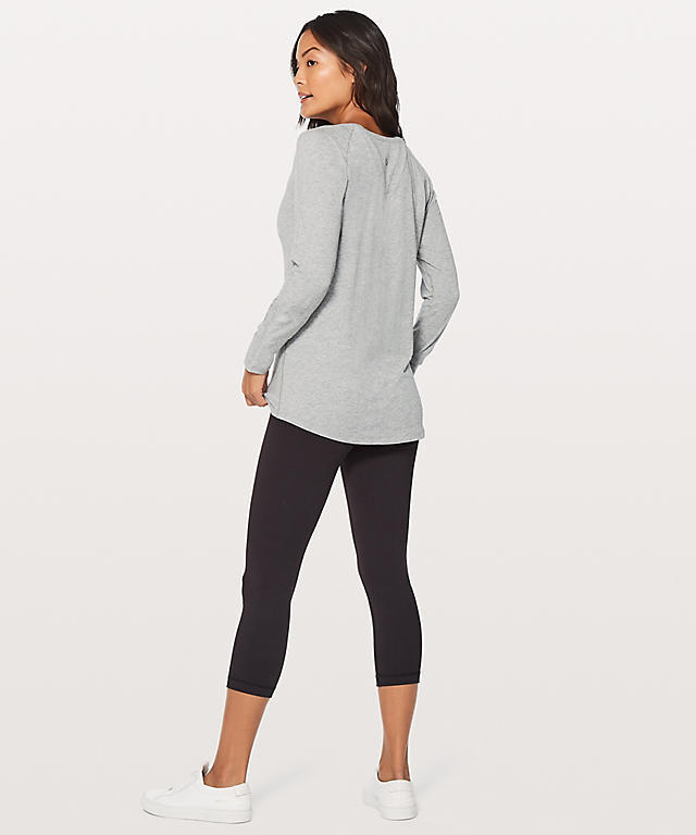 ★大人気★lululemon★Emerald Long Sleeve★Medium Grey