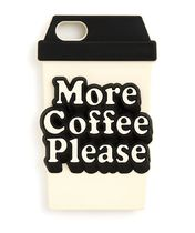 SILICONE IPHONE CASE - MORE COFFEE PLEASE