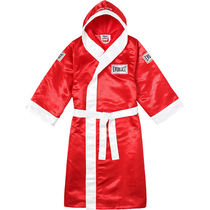 即発 サイズXL Supreme Everlast Satin Hooded Boxing Robe Red
