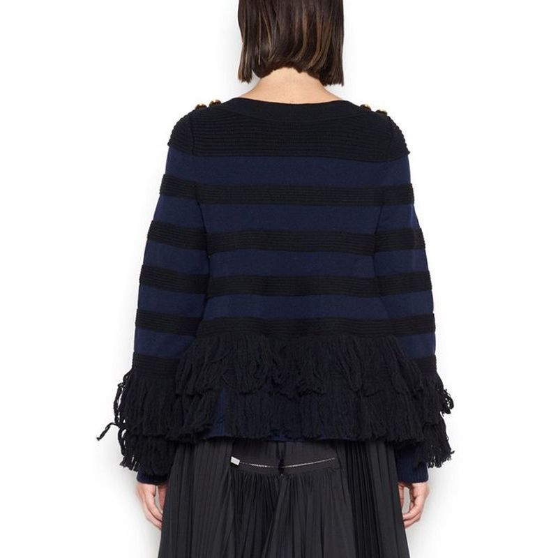 ◆◆VIP◆◆sacai サカイ WOOL SWEATER WITH GOLD BUTTONS