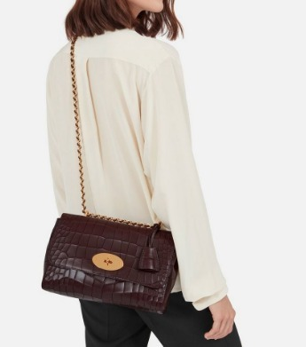 MulberryミディアムLily Oxblood Deep チェーンショルダーバッグ