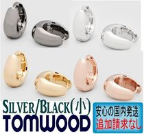 北欧発★Tom Wood★ピアス Ice Hoop Small Silver/Black