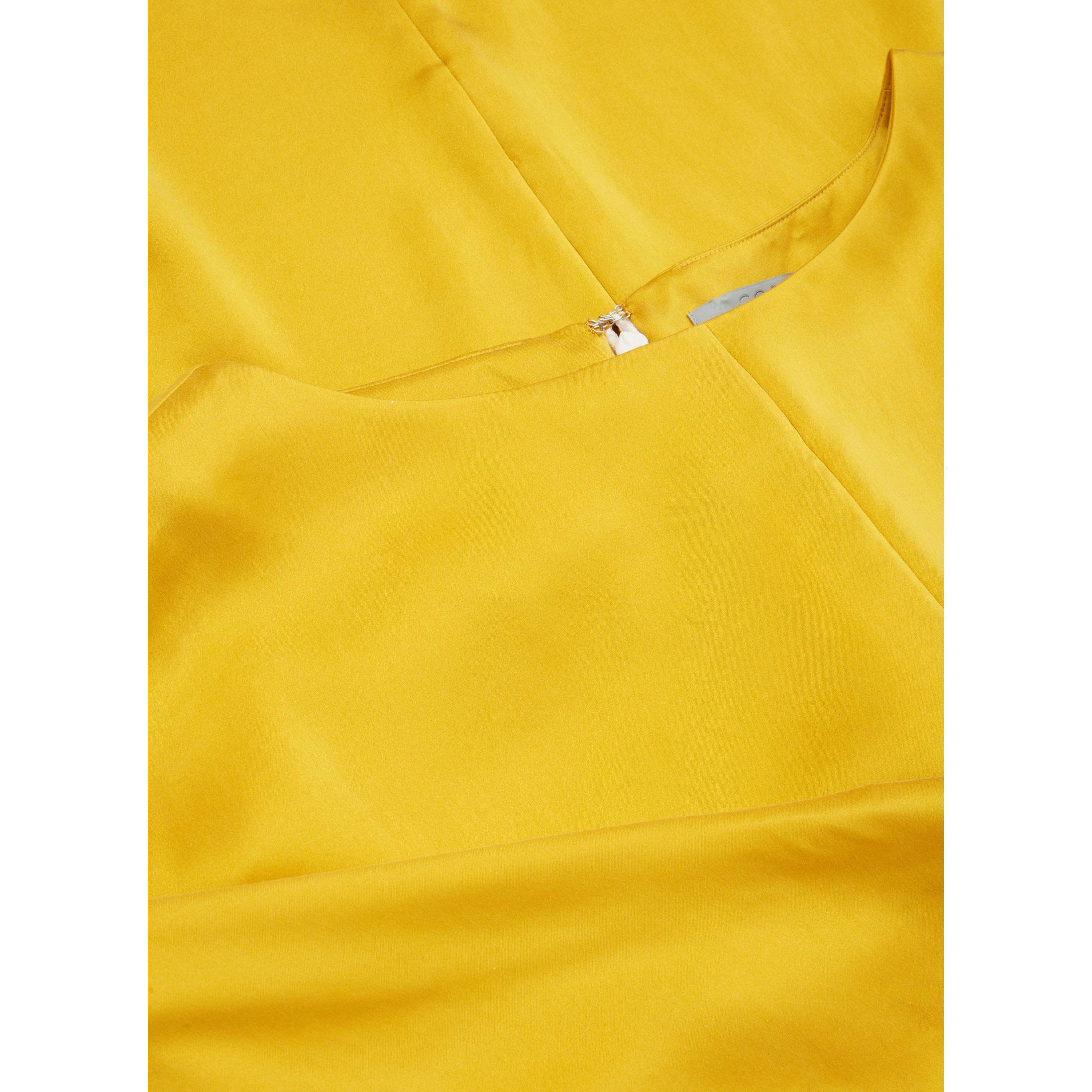 COS☆BATWING-SLEEVED SILK TOP / yellow