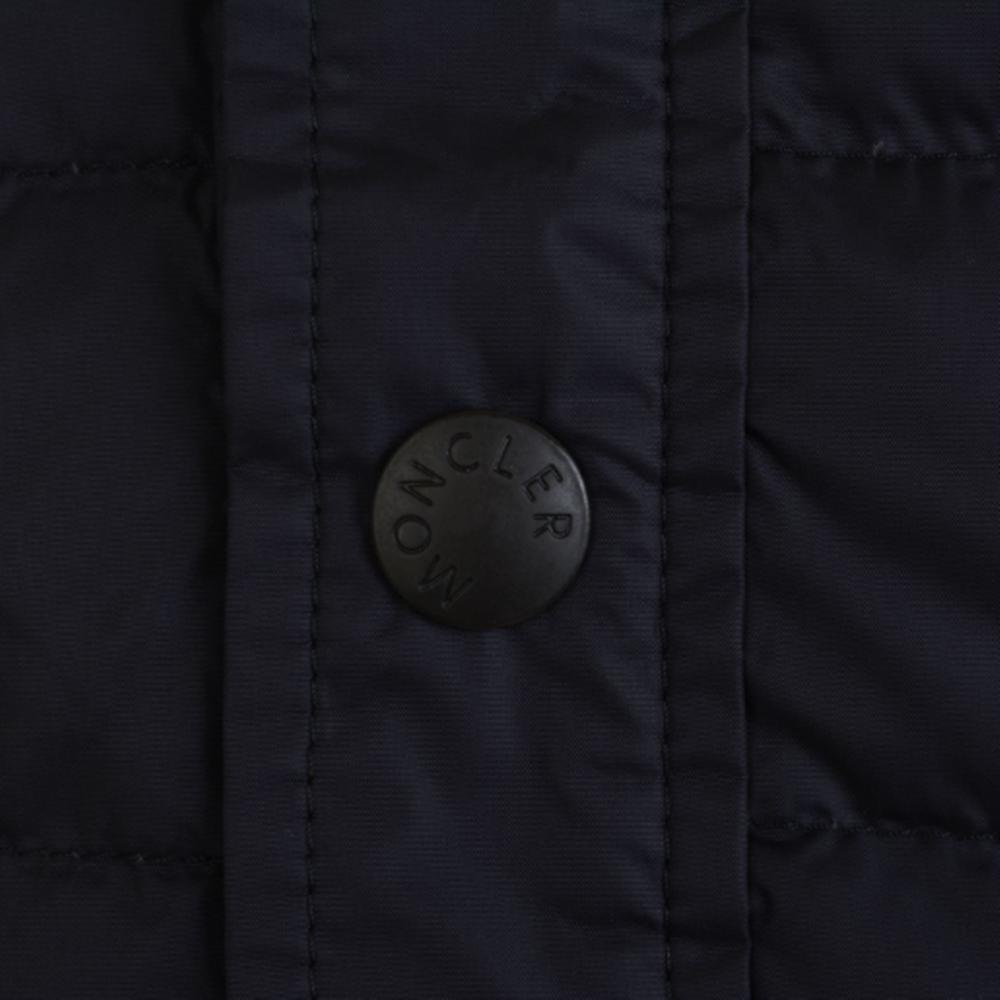 ◆Moncler モンクレール KNITTED SLEEVE 強印象ジャケット Navy