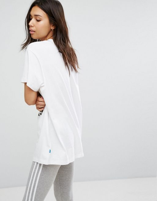 送料込み adidas Originals Camo Trefoil Tee In White トップス